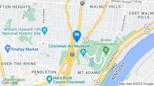 Springhill Suites by Marriott Midtown Cincinnati Map