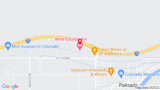 Wine Country Inn Palisade Map