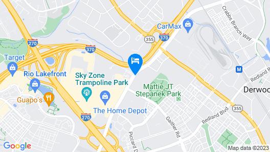 Red Roof Inn PLUS+ Washington DC - Rockville Map