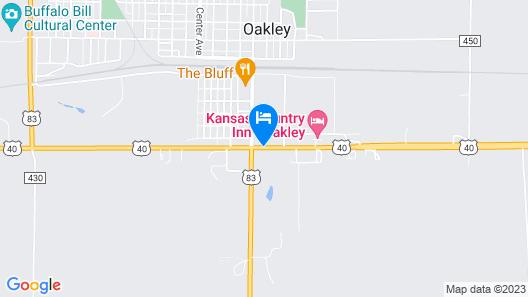 Knights Inn Oakley Map