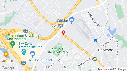 Comfort Inn Shady Grove - Gaithersburg - Rockville Map