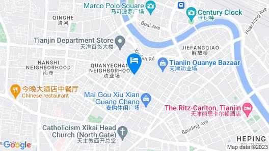 Greentree Inn Tianjin Binjiang Avenue Express Hotel Map
