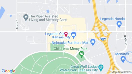 Residence Inn by Marriott Kansas City at The Legends Map