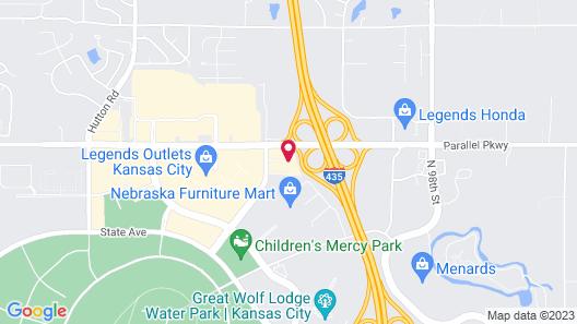 Holiday Inn Express Kansas City - at the Legends, an IHG Hotel Map