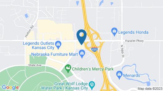 Holiday Inn Express Kansas City - at the Legends Map