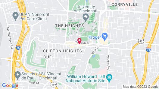 Fairfield Inn & Suites Cincinnati Uptown/University Area Map