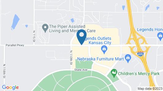 Candlewood Suites Kansas City Speedway Map