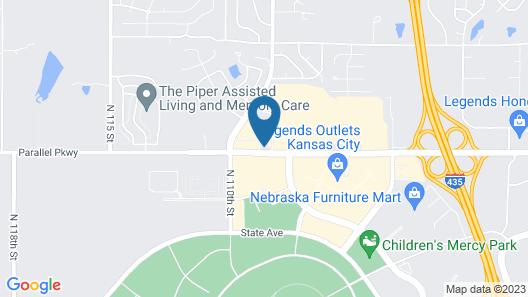 Candlewood Suites Kansas City Speedway, an IHG Hotel Map