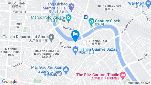 Tianjin Jinta Jinhai Suite Apartment Map