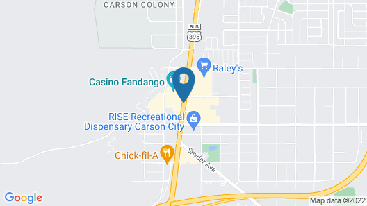 Courtyard by Marriott Carson City Map