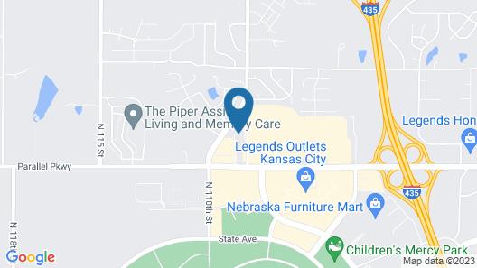 Homewood Suites by Hilton Kansas City Speedway Map