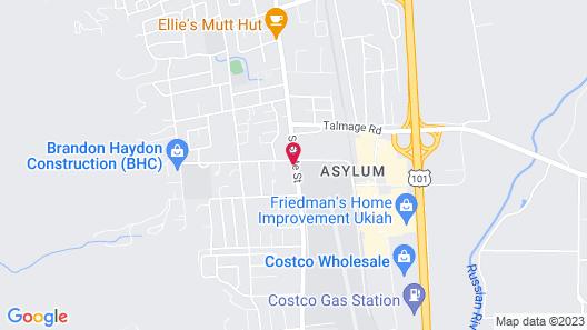 Motel 6 Ukiah, CA Map