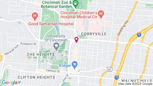 Hampton Inn & Suites Cincinnati/Uptown-University Area Map