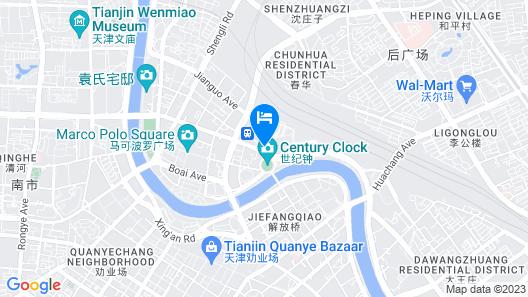 Atour Hotel Jinwan Plaza Railway Station Tianjin Map