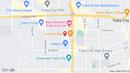 Hampton Inn & Suites Yuba City Map