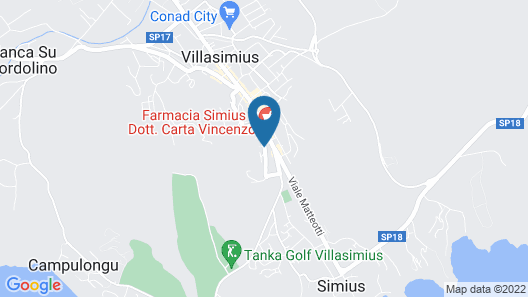Domu Simius Hotel & Guest House Map