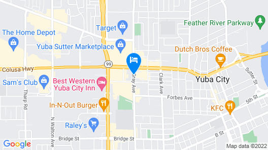Travelodge by Wyndham Yuba City Map