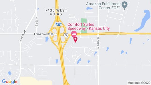 Comfort Suites Speedway - Kansas City Map
