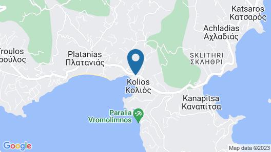 Kolios Beach Seaview Studio Map