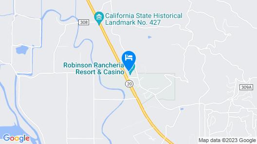 Robinson Rancheria Resort and Casino Map