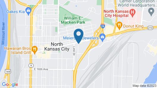 Holiday Inn Express & Suites North Kansas City, an IHG Hotel Map