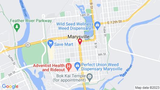 Motel 6 Marysville, CA Map