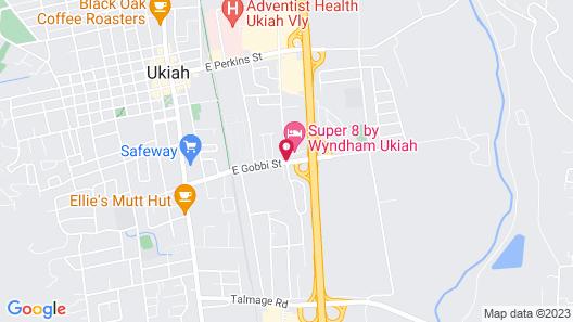 Super 8 by Wyndham Ukiah Map