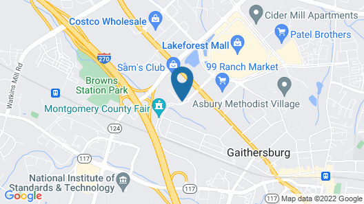 DoubleTree by Hilton Washington DC North/Gaithersburg Map