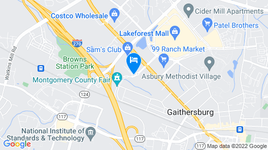 DoubleTree by Hilton Washington DC North/Gaithersburg Map