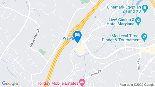 Cambria Hotel Arundel Mills-BWI Airport Map
