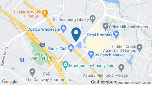 Holiday Inn Gaithersburg Map