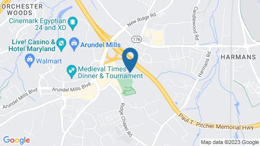Aloft Arundel Mills BWI Airport Map