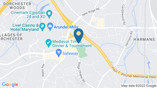 Element Arundel Mills BWI Airport Map