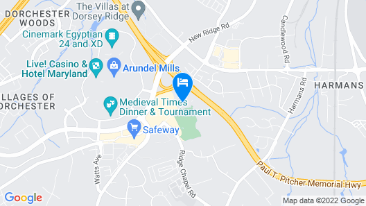 SpringHill Suites by Marriott Arundel Mills BWI Airport Map