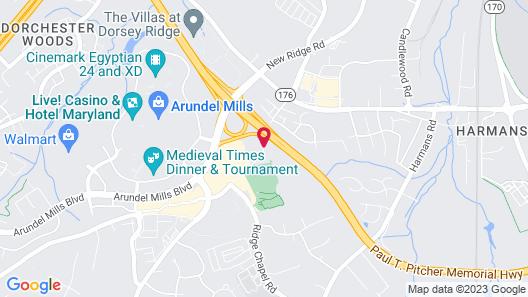 Fairfield Inn & Suites Arundel Mills BWI Airport Map