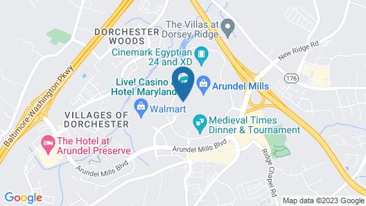 Live! Casino & Hotel – Baltimore/Washington BWI Airport Map