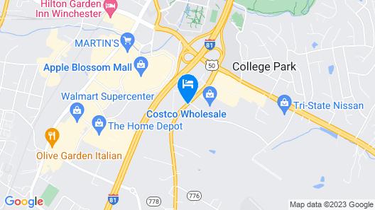 Fairfield Inn & Suites Winchester Map
