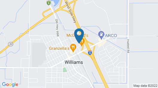 Motel 6 Williams, CA Map