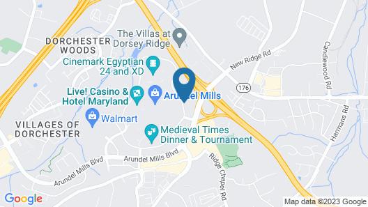 Residence Inn by Marriott Arundel Mills BWI Airport Map