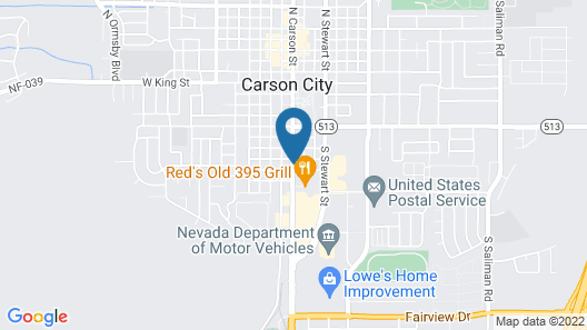 Carson City Plaza Hotel and Event Center Map