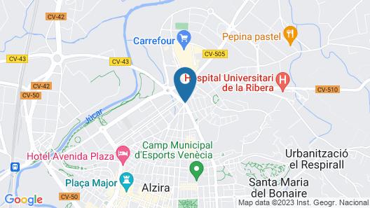 Villa in Alzira 100690 Map