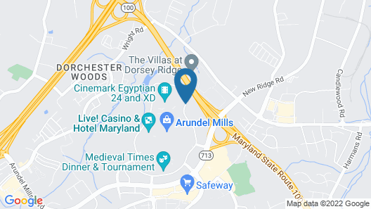 Towneplace Suites by Marriott Arundel Mills Map