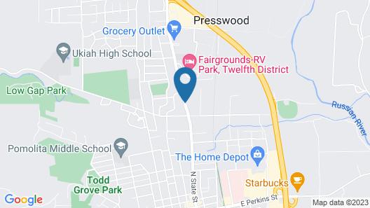 Days Inn by Wyndham Ukiah Map