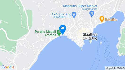 Megali Ammos House Map