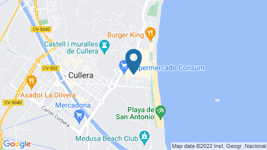 Cullera Beach Apartment Map