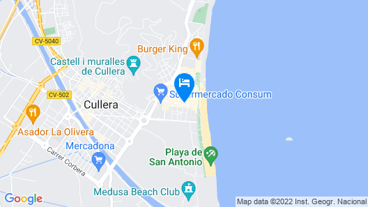 Simplistic Holiday Home in Cullera With Balcony Map