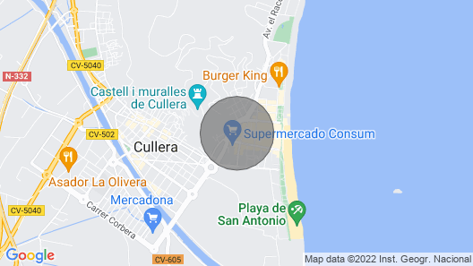 MAGNIFICENT APARTMENT IN CULLERA Map