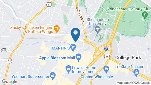 Hilton Garden Inn Winchester Map