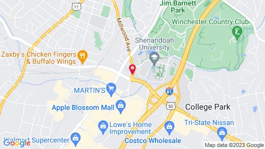 Hampton Inn Winchester-University/Mall Area Map