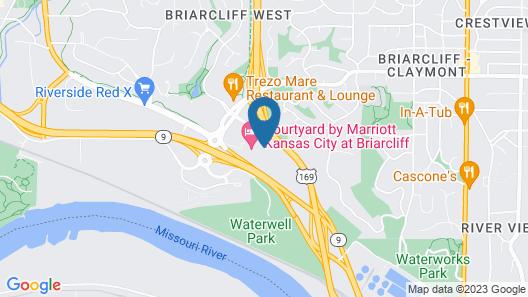 Courtyard Kansas City at Briarcliff Map